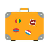 Journey suitcase vector. Stock Photography