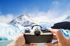 Journey To Antarctica. Photographer Capturing  Beautiful Landscape  Of Argentina Stock Photos