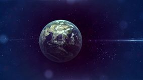 Space, Journey to Earth, travel. Journey to Earth, Satellite at the Earth orbit connection stock footage