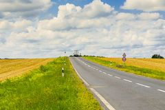 Journey to the horizon. Asphalt road, safe and comfortable journey to the horizon Royalty Free Stock Photos