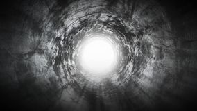 Journey to the light at the end of the tunnel stock video footage