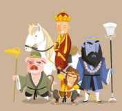 Journey to the west cartoon characters Royalty Free Stock Photos