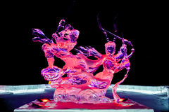 Journey to the west ice sculpture color Royalty Free Stock Photo