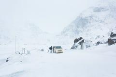Journey to the white winter desert