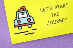 Journey Travel Drive Yellow Illustration Concept Stock Image
