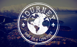 Journey Travel World Stamp Concept Royalty Free Stock Photography