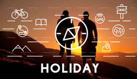 Journey Vacation Holiday Travel Compass Concept Stock Photo