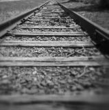 The journey. View of train tracks leading off into distance Royalty Free Stock Image