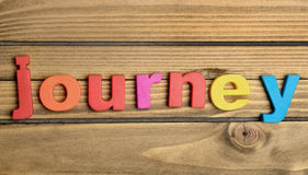 Journey word Royalty Free Stock Images