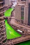 Turning the River green on St Pats royalty free stock photo