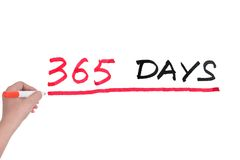 365 jours image stock