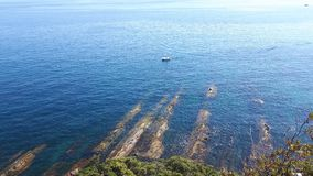 Jours d'été dans le bord de la mer de Gênes Images stock