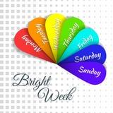 Jours d'arc-en-ciel de semaine Image libre de droits