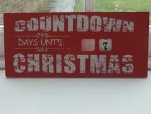 Jours de compte à rebours jusqu'au signe de Noël photographie stock libre de droits