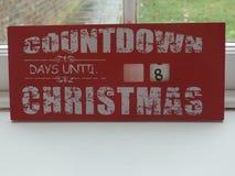 Jours de compte à rebours jusqu'au signe de Noël image stock