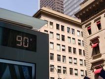 90 jours de degré chaud, quatre-vingt-dix degrés à New York City, NYC, Etats-Unis Image stock