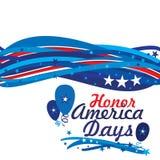 Jours de l'Amérique d'honneur Photographie stock