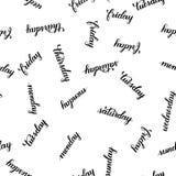 Jours de la calligraphie de brosse de semaine illustration libre de droits