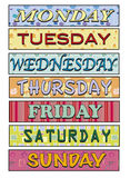 Jours de la semaine Image libre de droits