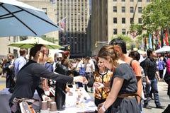 Jours de restaurant au centre de Rockefeller Photos stock