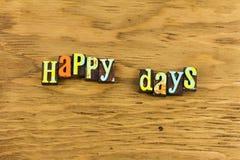 Jours heureux ici encore photos stock