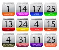 Jours importants de l'année illustration libre de droits