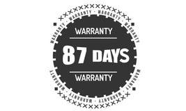 87 jours noircissent la conception d'illustration de garantie illustration libre de droits
