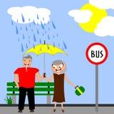 Jours pluvieux illustration stock