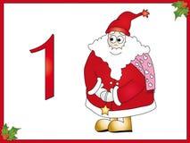 jours Santa de 1 12 Claus de Noël Photos stock