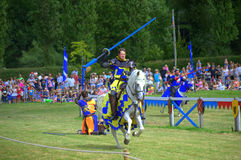 Joust knights contest Hever United Kingdom stock photography