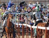 A Joust Tournament at the Arizona Renaissance Festival Stock Photos