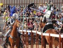 A Joust Tournament at the Arizona Renaissance Festival Royalty Free Stock Photos