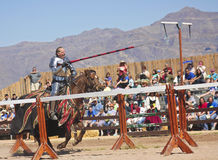 A Joust Tournament at the Arizona Renaissance Festival Royalty Free Stock Images