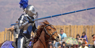 A Joust Tournament at the Arizona Renaissance Festival Stock Photo
