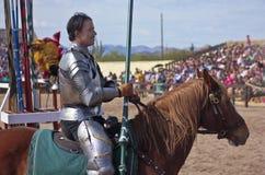 A Joust Tournament at the Arizona Renaissance Festival Stock Image