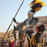 A Joust Tournament at the Arizona Renaissance Festival Royalty Free Stock Photo