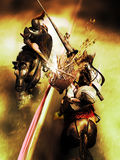Joust victory Royalty Free Stock Photography