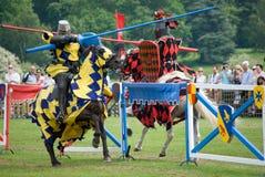 Jousters op Horseback royalty-vrije stock fotografie