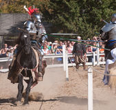 Jousters Shane Adams and Jason Armstrong Stock Photos
