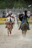 jousting рыцари Стоковые Фото
