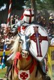 jousting рыцарь стоковое изображение