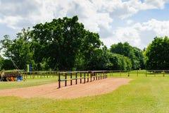 Jousting arena. Near Warwick castle. Warwickshire, England Royalty Free Stock Image
