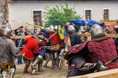 Jousting battles festival of medieval culture Outpost 2016 in Kamenetz-Podolsk Royalty Free Stock Images