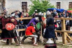 Jousting battles festival of medieval culture Outpost 2016 in Kamenetz-Podolsk Stock Photo
