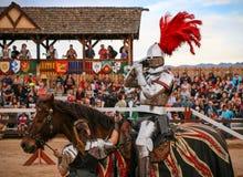 Jousting bij het Renaissancefestival stock fotografie