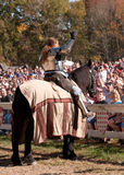 Jousting Champion Shane Adams Stock Images