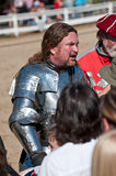 Jousting Champion Shane Adams. HARVEYSBURG OH, OCTOBER 9 2010 - Reigning world champion full contact Jouster Shane Adams (Sir Shanton) talks to his fans after a Stock Image