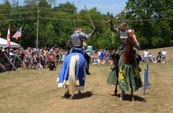 Jousting demonstration Royaltyfri Bild
