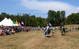 Jousting demonstration Stock Photos