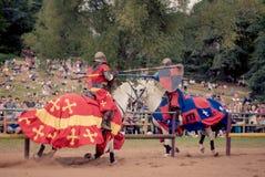 Jousting em Warwick Castle Fotografia de Stock